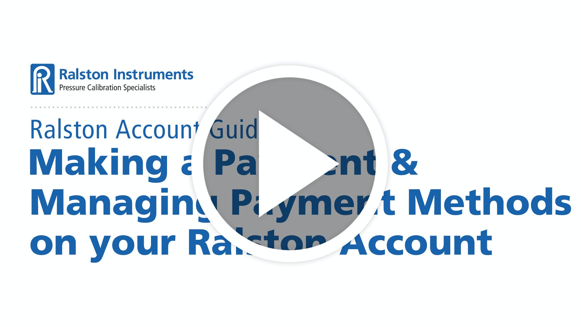Making a Payment & Managing Payment Methods