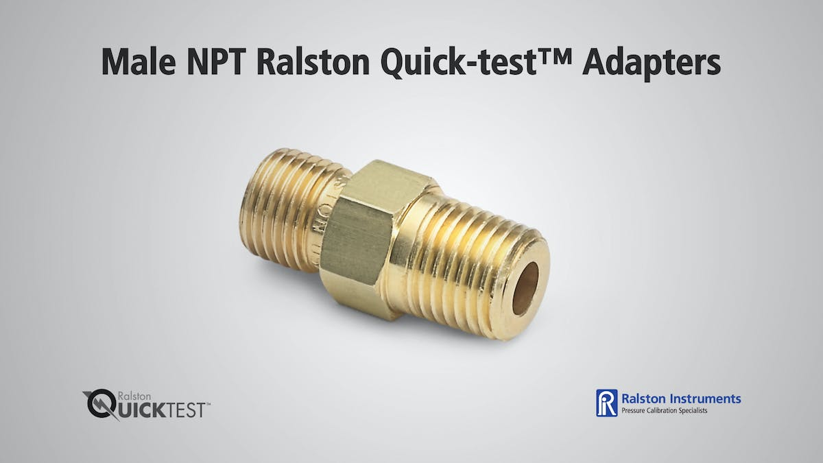 NPT Male Quick test Adapters