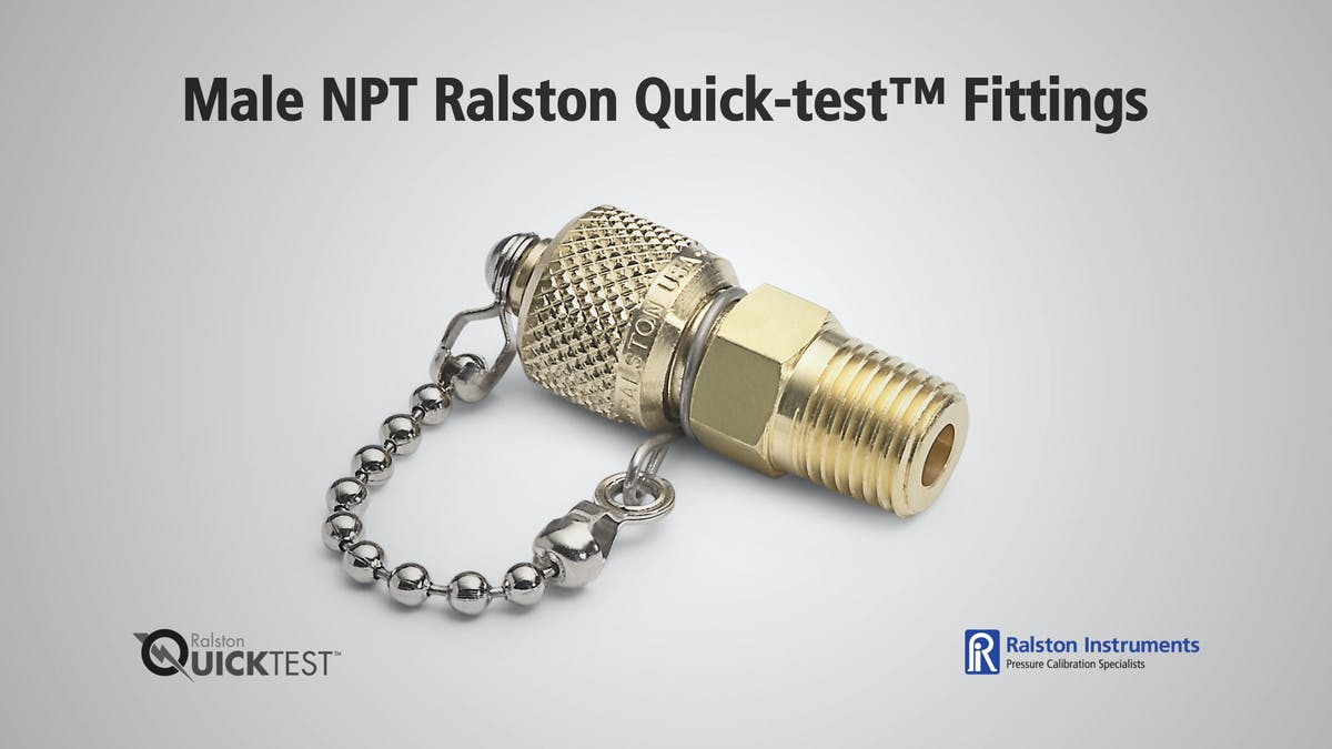 NPT Male Quick test Fittings