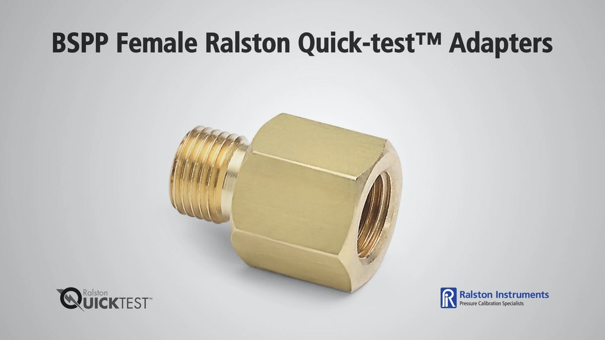 Bspp Female Ralston Quick Test Adapters