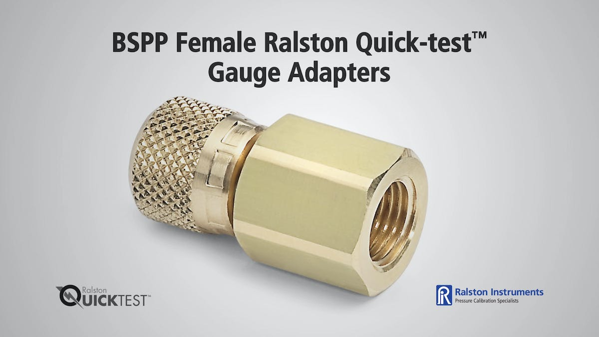 Bspp Female Ralston Quick Test Gauge Adapters