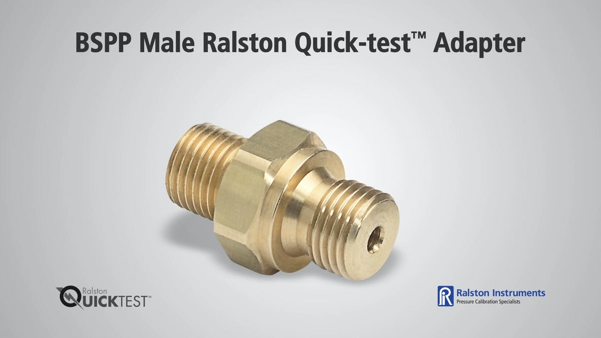 Bspp Male Ralston Quick Test Adapter
