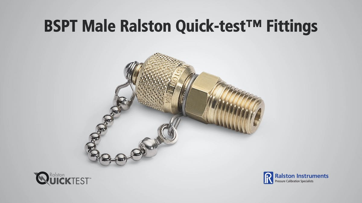 Bspt male ralston quick test fittings