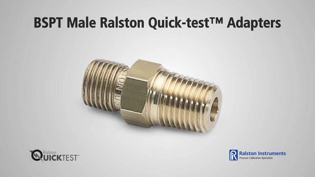 Bspt male ralston quicktest adapters