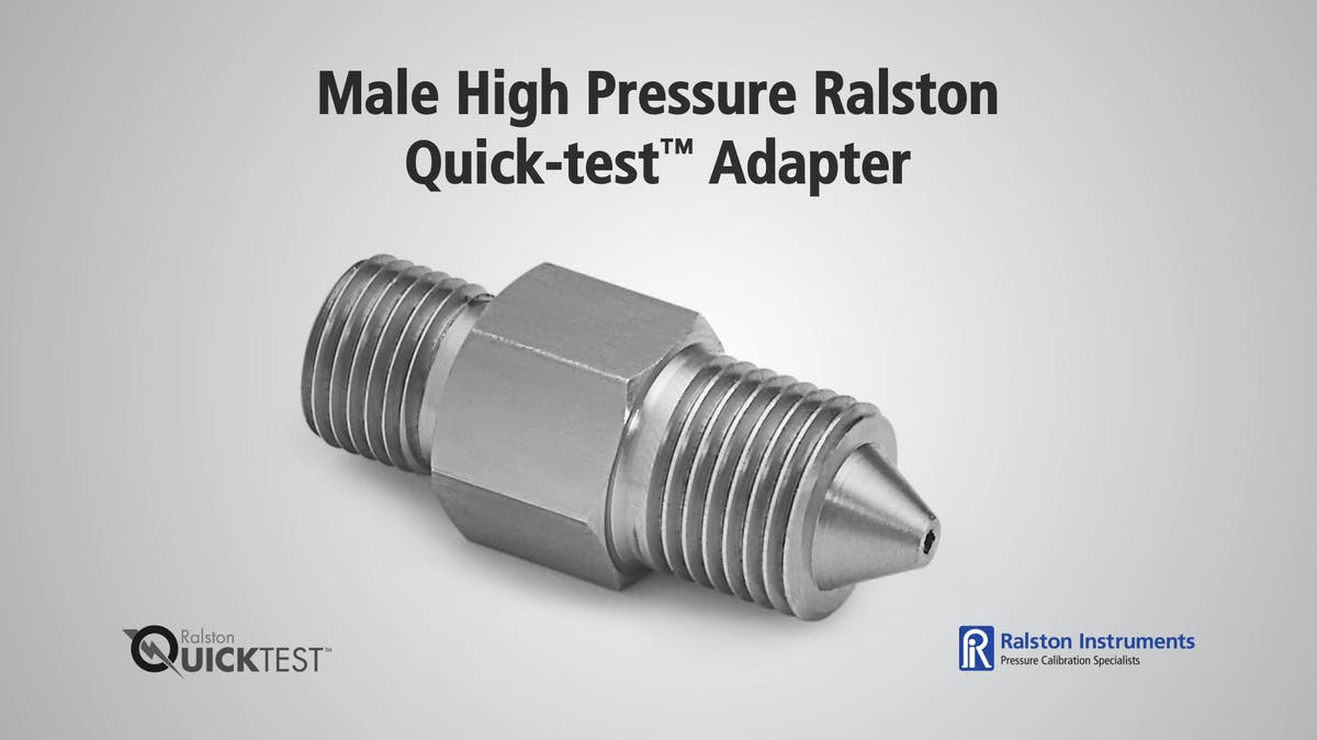 Male high pressure ralston quick test adapter