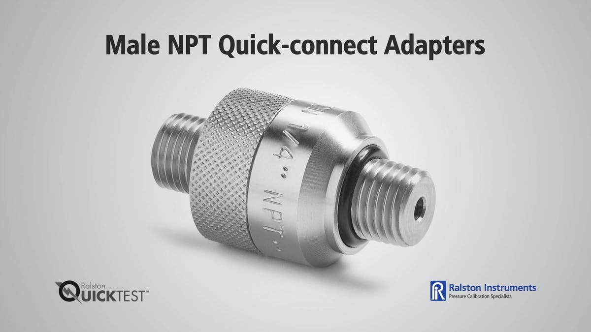 Male npt quick connect adapters