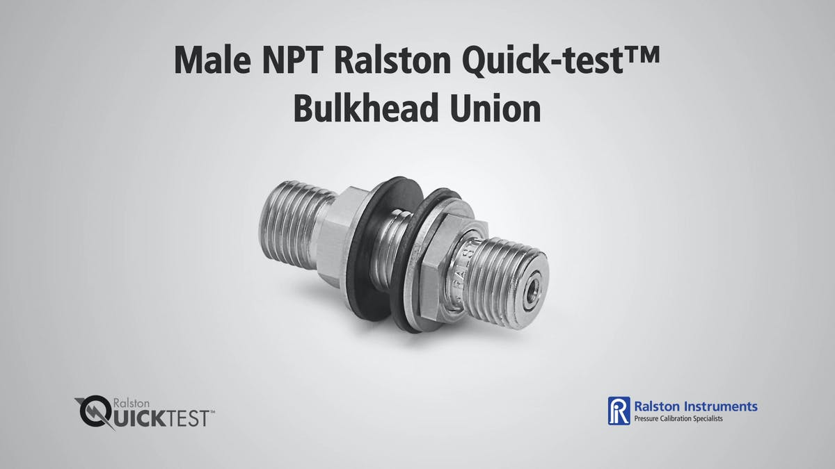 Male npt ralston quick test bulkhead union
