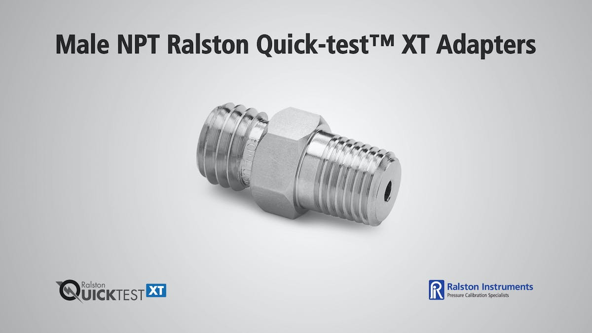Male npt ralston quick test xt adapters