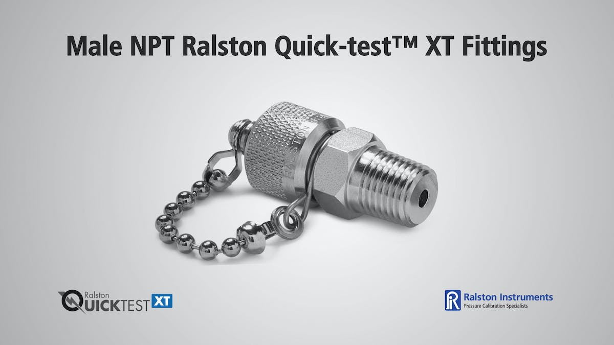 Male npt ralston quick test xt fittings