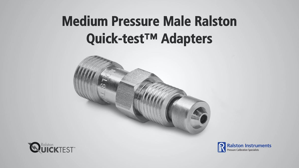 Medium pressure male ralston quick test adapters