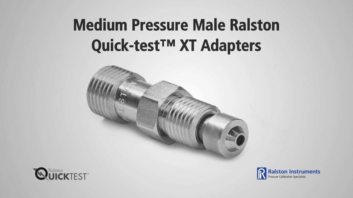 Medium pressure male ralston quick test xt adapters
