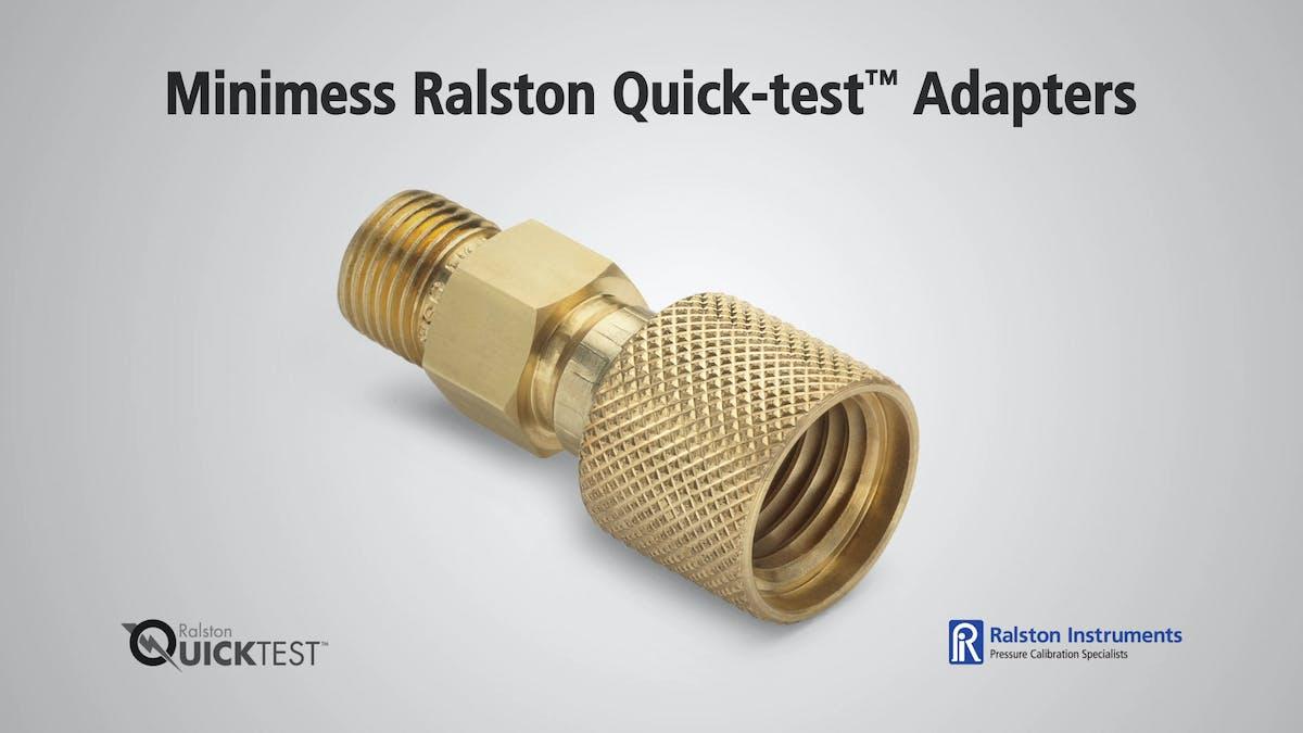 Minimess ralston quick test adapters