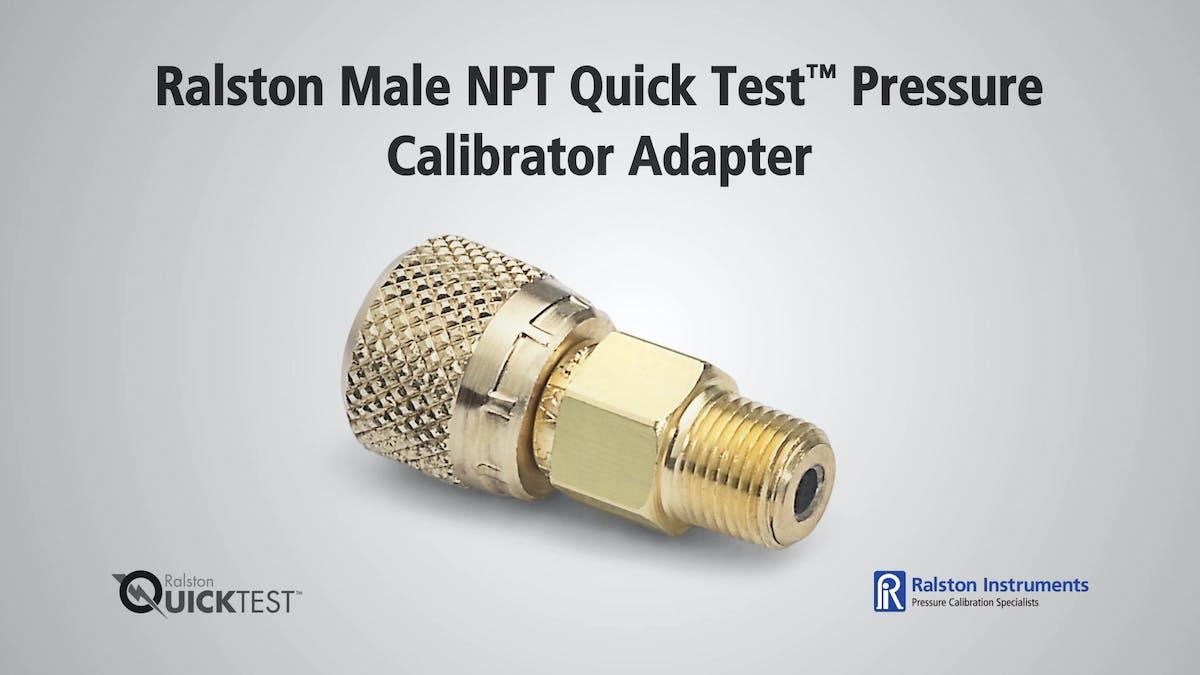 Ralston male npt quick test pressure calibrator adapter