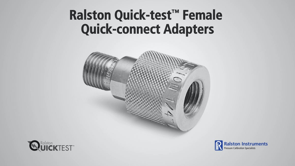 Ralston quick test female quick connect adapters