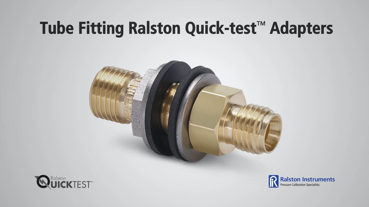 Tube fitting ralston quick test bulkhead adapters